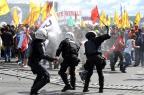 Ao menos quatro manifestantes feridos em marcha continuam internados em Brasília EVARISTO SA/AFP