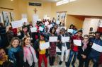 Imigrantes haitianos comemoram conclusão de curso de português em Porto Alegre Omar Freitas/Agencia RBS