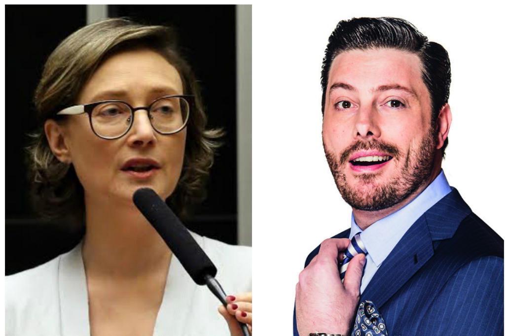 Juíza recusa pedido para retirar vídeo de Danilo Gentili ofendendo Maria do Rosário Montagem/Divulgação