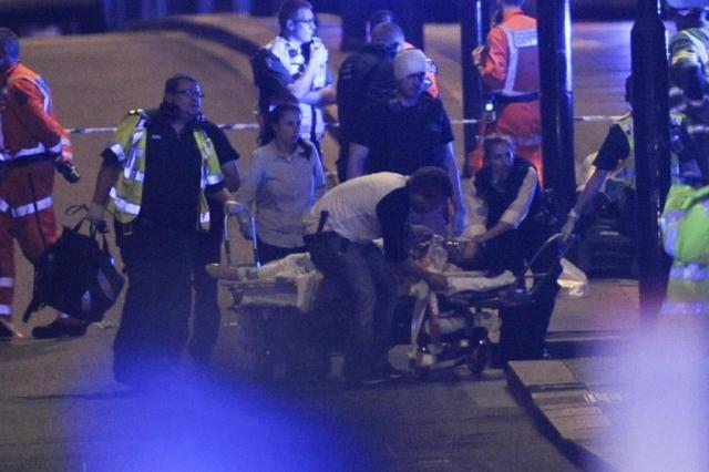Ataques terroristas em Londres deixam sete mortos e 48 feridos DANIEL SORABJI/AFP