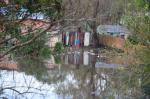 Chuva tira famílias de casa em Uruguaiana