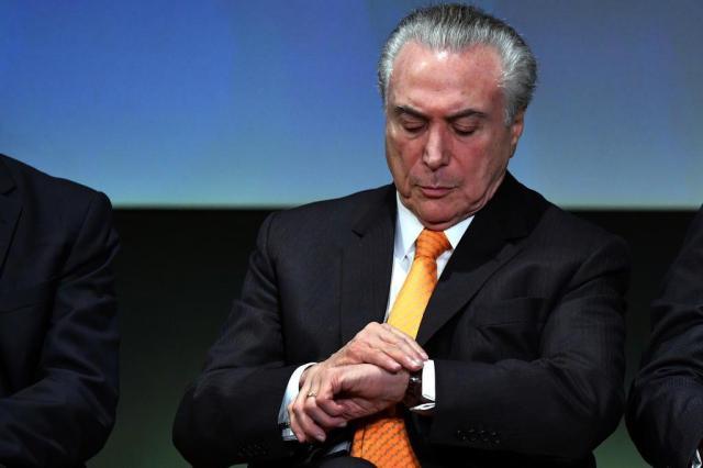 Temer volta a Brasília após reunião com criminalista em São Paulo NELSON ALMEIDA/AFP