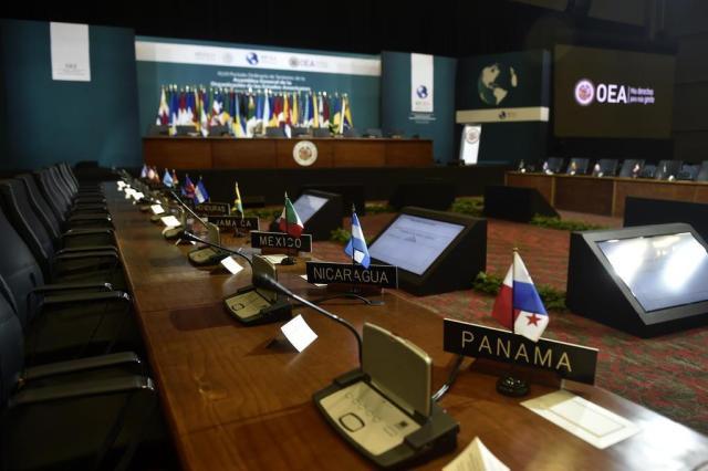 OEA inicia assembleia em Cancún com olhar voltado para a crise política na Venezuela PEDRO PARDO/AFP