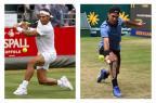 """Mais um """"Fedal""""? Federal e Nadal chegam embalados a Wimbledon Montagem sobre fotos /  CHRIS YOUNG E CARMEN JASPERSEN/AFP / CHRIS YOUNG E CARMEN JASPERSEN/AFP"""