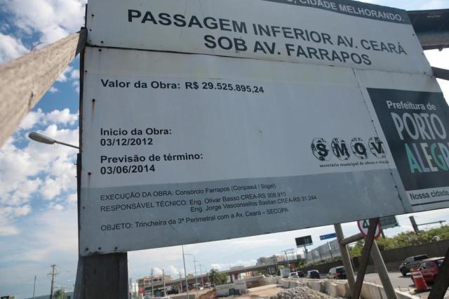 Entenda por que a obra da Avenida Ceará segue parada cinco anos depois da licitação André Ávila/Agencia RBS