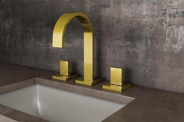 A tendência dos metais dourados para banheiro Meber/Divulgação