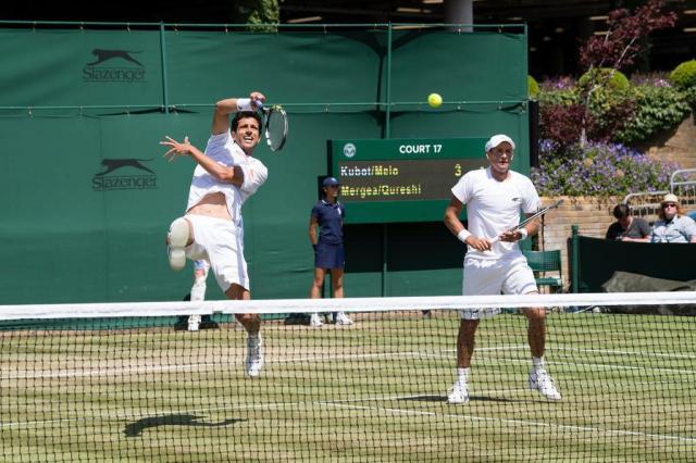 Marcelo Melo e polonês estão nas semifinais de duplas em Wimbledon Peter Staples/ATP World Tour,Divulgação
