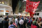 Manifestantes fazem ato em Porto Alegre contra Temer e condenação de Lula André Feltes/Especial