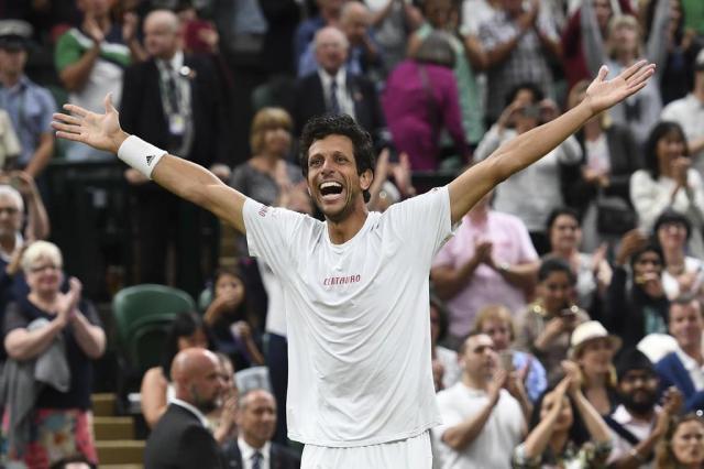 "Marcelo Melo fala sobre conquista em Wimbledon: ""Sonho realizado"" Glyn KIRK/AFP"