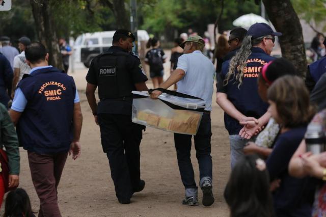 Smic realiza operação contra ambulantes que atuam no Brique da Redenção Anderson Fetter/Agencia RBS