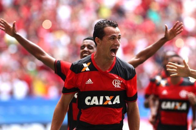 """Acertado com o Inter, Leandro Damião se despede do Flamengo: """"Na torcida pelo título brasileiro"""" Gilvan de Souza/Divulgação"""