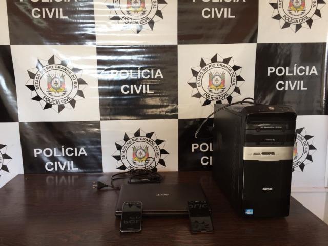 Adolescente é apreendido em operação contra jogo da Baleia Azul em São Gabriel Polícia Civil/ Divulgação/