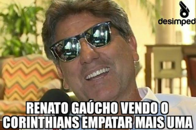 """""""Profeta"""" Renato Portaluppi gera memes após segundo empate do Corinthians Desimpedidos / Reprodução/Reprodução"""