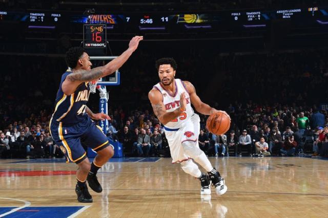 Armador Derrick Rose interessa a três equipes da NBA e deve definir futuro no final de semana New York Knicks / Divulgação/Divulgação