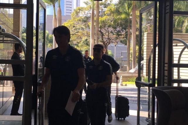 Grêmio chega a São Paulo para jogo desta segunda-feira Rodrigo de Oliveira/Agência RBS