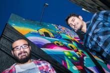 Artistas Jotapê e Celo Pax inauguram novo grafite na Cidade Baixa Andréa Graiz/Agencia RBS