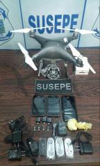 Em 11 dias, quarto drone é abatido transportando drogas e celulares para presídio de Charqueadas  Susepe/ Divulgação/