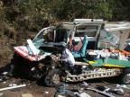 Motorista de ambulância morre em colisão frontal na RS-472, em Palmitinho Polícia Civil/divulgação