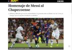 Imprensa mundial destaca homenagens do Barcelona à Chapecoense e atuação de Messi Reprodução / Reprodução/Reprodução