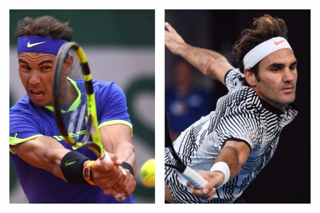 Nadal e Federer estão de volta à briga pela liderança do ranking Montagem sobre foto /  GABRIEL BOUYS/AFP e SAEED KHAN/AFP / GABRIEL BOUYS/AFP e SAEED KHAN/AFP