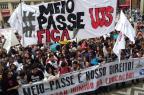 Estudantes protestam contra fim da gratuidade na segunda passagem de ônibus em Porto Alegre Tadeu Vilani/Agencia RBS