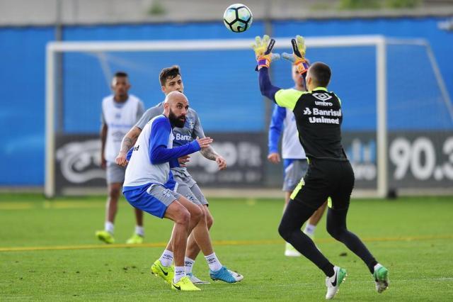 FOTOS: Renato encaminha Grêmio com time reserva para o domingo Mateus Bruxel/Agencia RBS