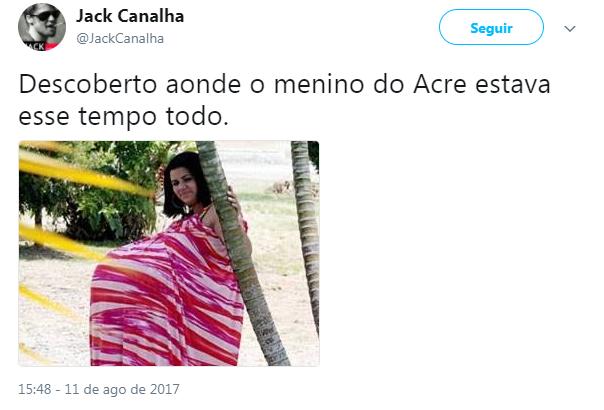 """Retorno do """"Menino do Acre"""" gera memes na internet Reprodução / Twitter/Twitter"""