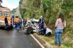Passageira morre em acidente entre caminhão e carro em Gramado (Bombeiros Voluntários de Nova Petrópolis/Divulgação)