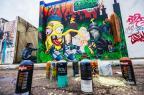 Muro do cemitério municipal de Esteio ganha painel de grafites (Omar Freitas/Agencia RBS)