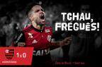 """Flamengo ironiza eliminação do Botafogo: """"Tchau, freguês"""" Reprodução / Twitter, Flamengo/Twitter, Flamengo"""