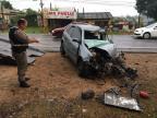 Acidente entre carro e ônibus deixa quatro feridos na RS-020, em Gravataí Cid Martins / Agência RBS/Agência RBS