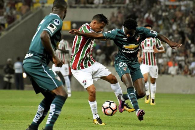 Fluminense vence LDU por 1 a 0 no jogo de ida das oitavas de final da Sul-Americana Mailson Santana/Fluminense / Divulgação