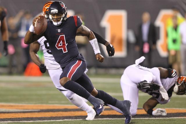 Texans vence o Bengals em jogo truncado na estreia de Deshaun Watson John Grieshop / Getty Images/AFP/Getty Images/AFP