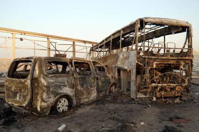 Sobe para 84 o número de mortos em duplo atentado do Estado Islâmico no Iraque Haidar HAMDANI/AFP