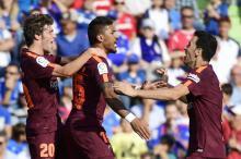 Paulinho decide e Barcelona mantém 100% de aproveitamento PIERRE-PHILIPPE MARCOU / AFP/AFP