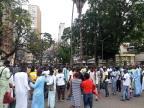 Senegaleses fazem caminhada em celebração religiosa no Centro Felipe Daroit/