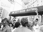Comício final da campanha pelas eleições diretas, em abril de 1984