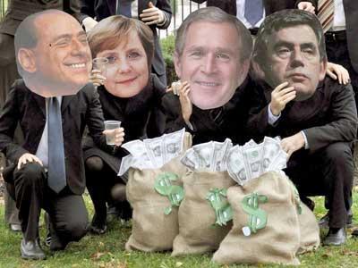Ativistas de ONG protestam contra G-20 em Washington Rainer Jensen, EFE /
