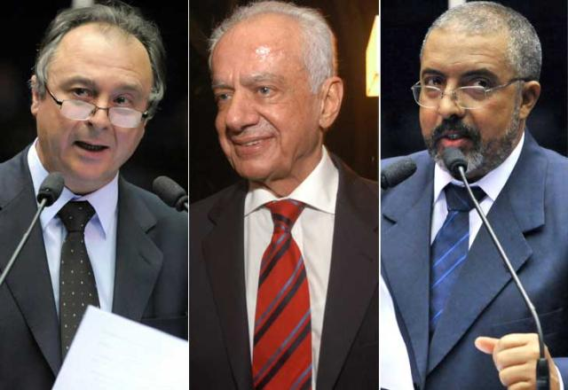 Senadores gaúchos dizem desconhecer atos secretos  Montagem de fotos de Dulce Helfer e Agência Senado/
