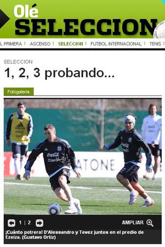 """D'Alessandro faz jogo """"para esquecer"""", diz jornal argentino Reprodução, jornal Olé/"""