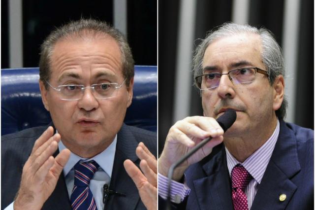 Lista de políticos investigados na Lava-Jato chega ao STF e inclui nomes de Cunha e Renan Montagem sobre fotos/Reprodução