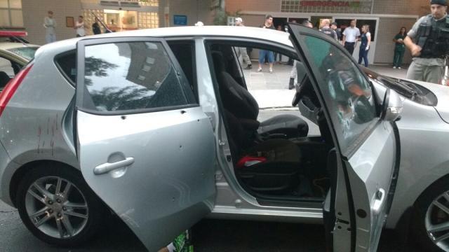 Troca de tiros entre PMs e suspeitos termina com mortes em frente ao Hospital Cristo Redentor Leitor DG / Arquivo Pessoal/Arquivo Pessoal