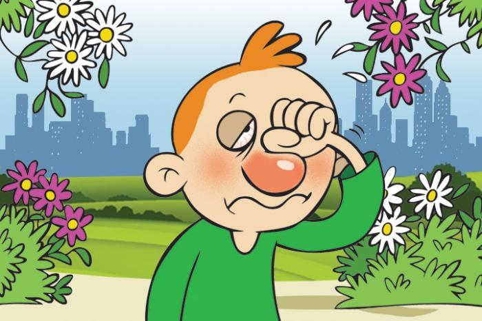 Resultado de imagem para alergias cartoon
