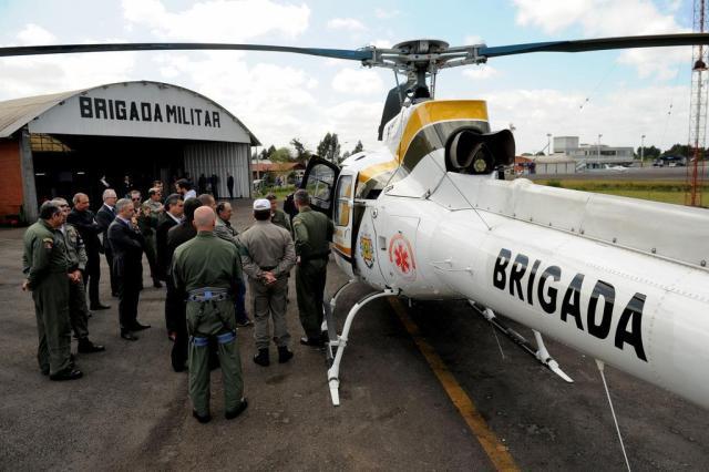 Novo helicóptero reforça ações da BM contra roubos a banco na Serra Diogo Sallaberry/Agencia RBS
