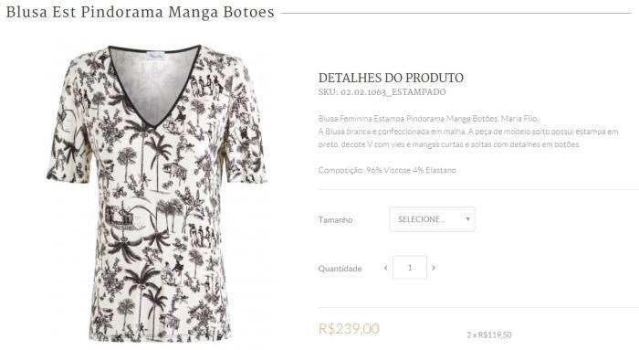 2dc7e49db Marca de roupa brasileira cria blusa com estampa de escravos e causa ...