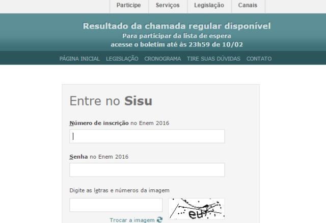 Resultados do Sisu 2017 são divulgados pelo MEC Reprodução/