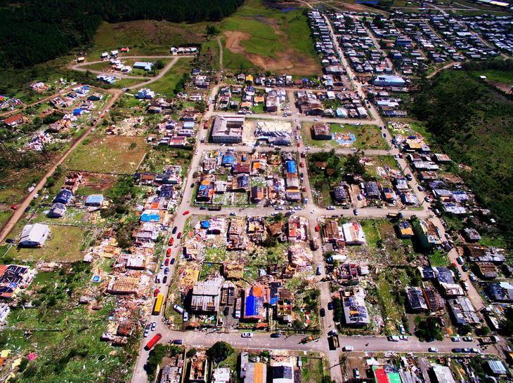 FOTOS: imagens aéreas mostram destruição em São Francisco de Paula -  Pioneiro